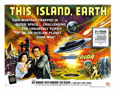 Painting - This Island Earth Science Fiction Classic Movie by R Muirhead Art