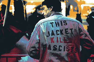 George Bush Mixed Media - This Jacket Kills Fascists by Shay Culligan