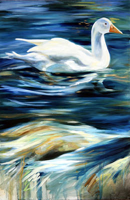 Duck Painting - This Little Duck by Mary Sparrow