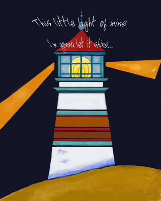 This Little Light Of Mine Art Print by Glenna McRae
