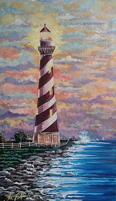 Painting - This Little Lighthouse Of Mine by Jeleata Nicole