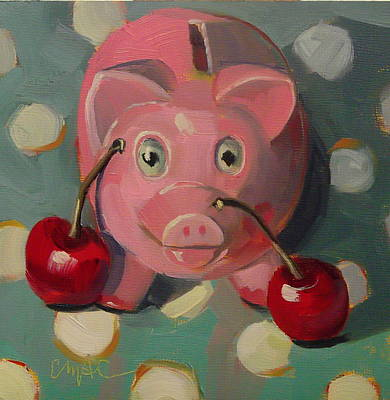 Piggies Painting - This Little Piggie by Carolyn McDonald