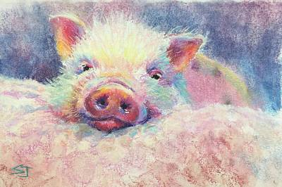 Painting - This Little Piggy by Susan Jenkins