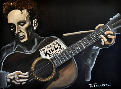 Painting - This Machine Kills Fascists by David Fossaceca