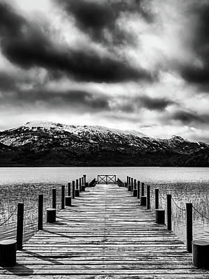 Photograph - Dramatic Black And White Scene In The Argentine Patagonia by Fine Art Photography Prints By Eduardo Accorinti