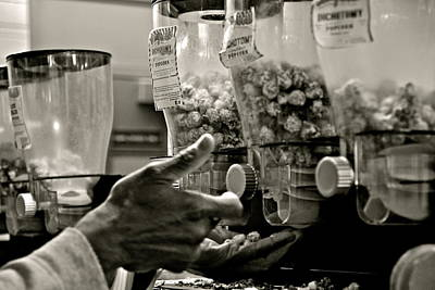 Black And White Photograph - This Man's Hand by Allison Liffman