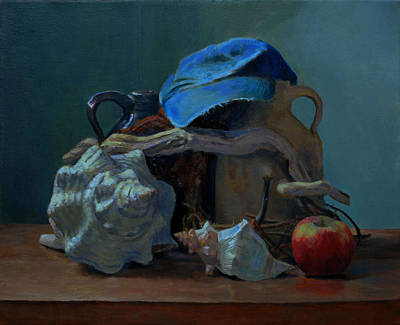 Sea Shell Painting - This Old Hat by Alan Cayton