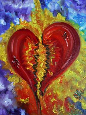 Painting - This Old Heart Of Mine by Yesi Casanova