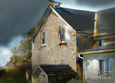 Abandoned Farm House Painting - This Old House by Bob Salo
