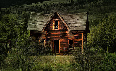 Cabin Window Photograph - This Old House by Naman Imagery