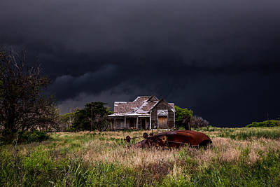 Claude Monet - This Old House - Abandoned House and Cotton Gin in Texas by Southern Plains Photography