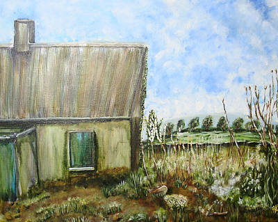 Painting - This Old House by Shelley Bain