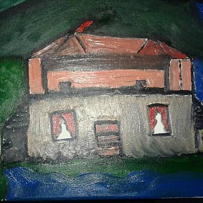 Painting - This Old Manor by Shelundra Santiago