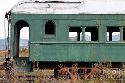 Photograph - This Old Napa Train Has Seen Better Days 7d9007 by San Francisco