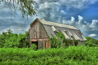 This Old Red Barn Art Print
