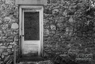Photograph - This Old Rock Wall Grayscale by Jennifer White