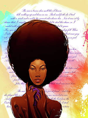 Painting - Brown Skin by Carey Muhammad