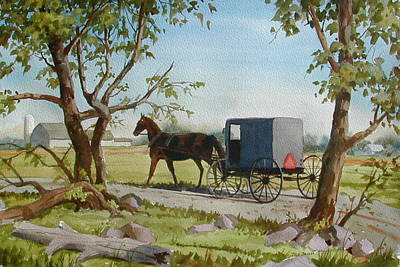 Horse And Buggy Painting - This Side Of Paradise by Faye Ziegler
