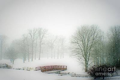 Photograph - This Small Bridge, Located On A Golf Course, Always Provides A Scenic View. When A December Blizzard by Polly Peacock