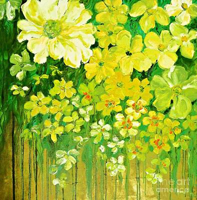 Painting - This Summer Fields Of Flowers by AmaS Art