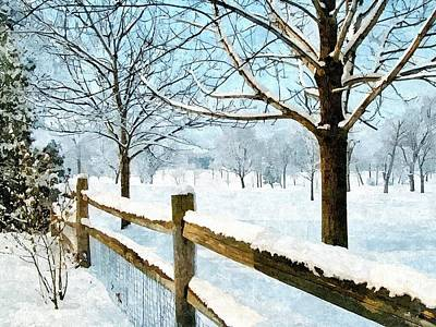 This Winter Art Print by Subesh Gupta