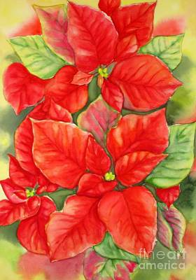 Painting - This Year's Poinsettia 1 by Inese Poga