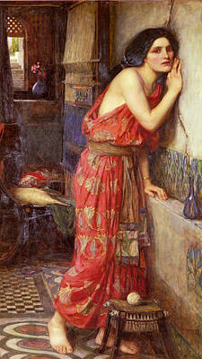 Ancient Roman Painting - Thisbe by John William Waterhouse