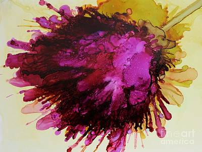 Alcohol Ink Wall Art - Painting - Thistle by Beth Kluth