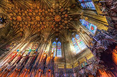 Photograph - Thistle Chapel St Giles Cathedral Edinburgh by David Pyatt