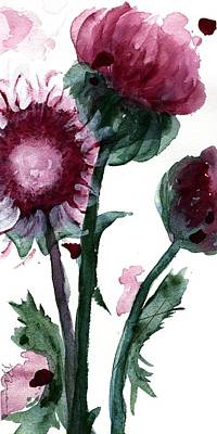 Thistle Painting - Thistle by Dawn Derman