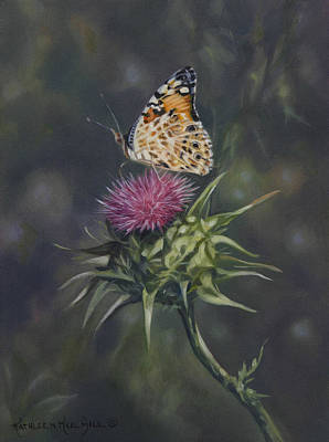 Thistle Dew Art Print by Kathleen  Hill