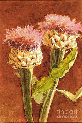 Nature Medicine Painting - Thistle by MotionAge Designs
