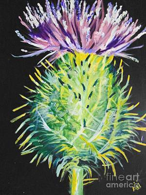 Art Print featuring the painting Thistle by Saundra Johnson