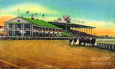 Painting - Thistledown Racetrack And Grandstand In Cleveland Oh  by Dwight Goss