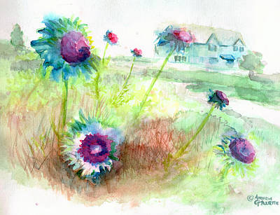 Painting - Thistles #1 by Andrew Gillette