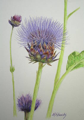 Painting - Thistles by Marna Edwards Flavell
