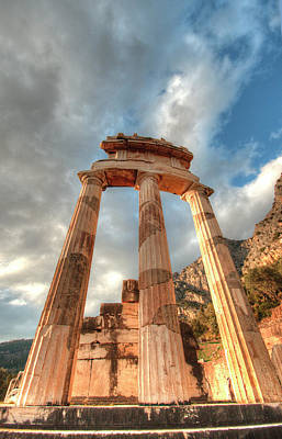 Photograph - Tholos Sanctuary Of Athena Pronaia At Delphi by Deborah Smolinske