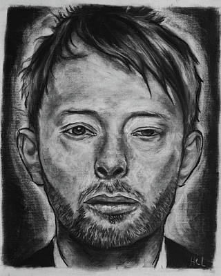 Thom Yorke Drawing - Thom Yorke by Harrison Larsen