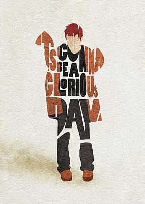 Friend Digital Art - Thom Yorke Typography Art by Inspirowl Design