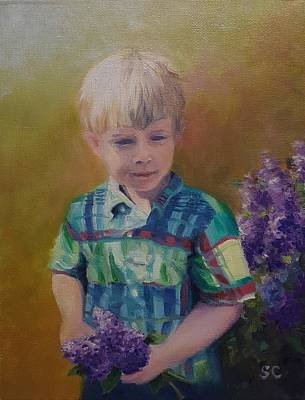 Painting - Thomas Age 3 by Sharon Casavant