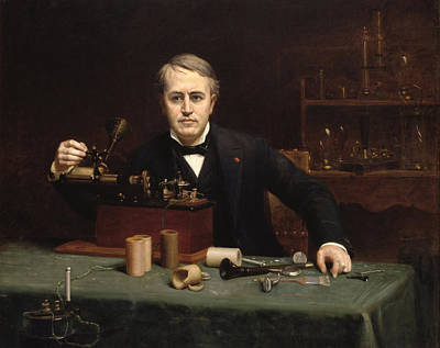 Edison Painting - Thomas Alva Edison by Mountain Dreams