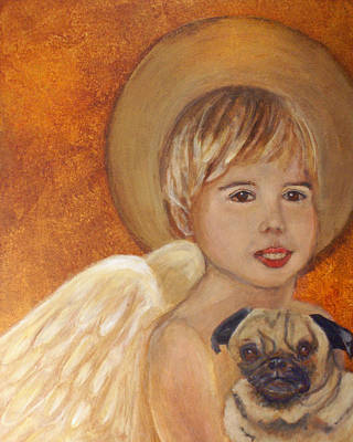 Painting - Thomas And Bentley Little Angel Of Friendship by The Art With A Heart By Charlotte Phillips