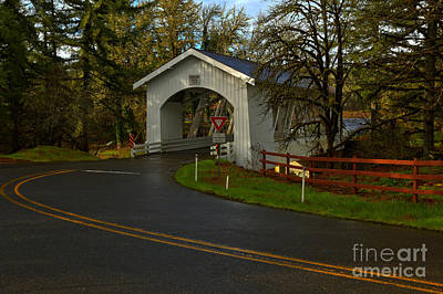 Photograph - Thomas Creek Covered Bridge by Adam Jewell