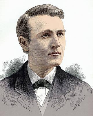 Thomas Edison, American Inventor Art Print by Sheila Terry