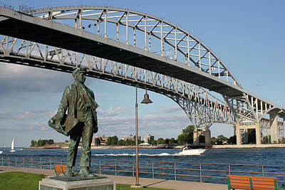 Thomas Edison And Blue Water Bridge 1 Art Print