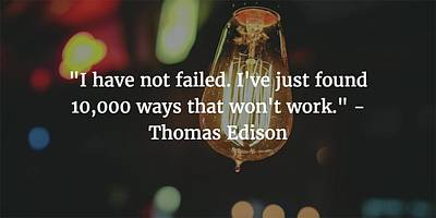 Photograph - Thomas Edison Quote by Matt Create