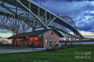 Photograph - Thomas Edison Train Depot And Blue Water Bridges by Scott Bert