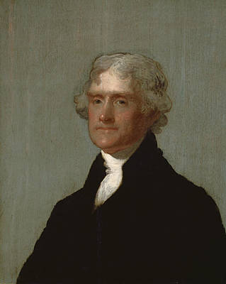 Thomas Jefferson Art Print by Gilbert Stuart