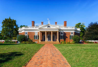 Photograph - Thomas Jefferson Home - Monticello - 1 by Frank J Benz