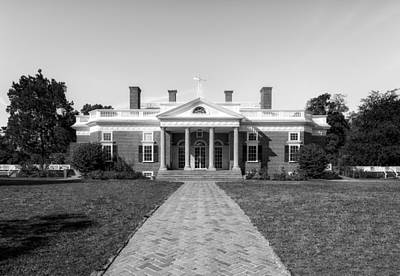 Photograph - Thomas Jefferson Home - Monticello - 2 by Frank J Benz